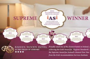 IASI Award Winning Cleanest Hotel Raheen Woods Hotel Fields of Athenry